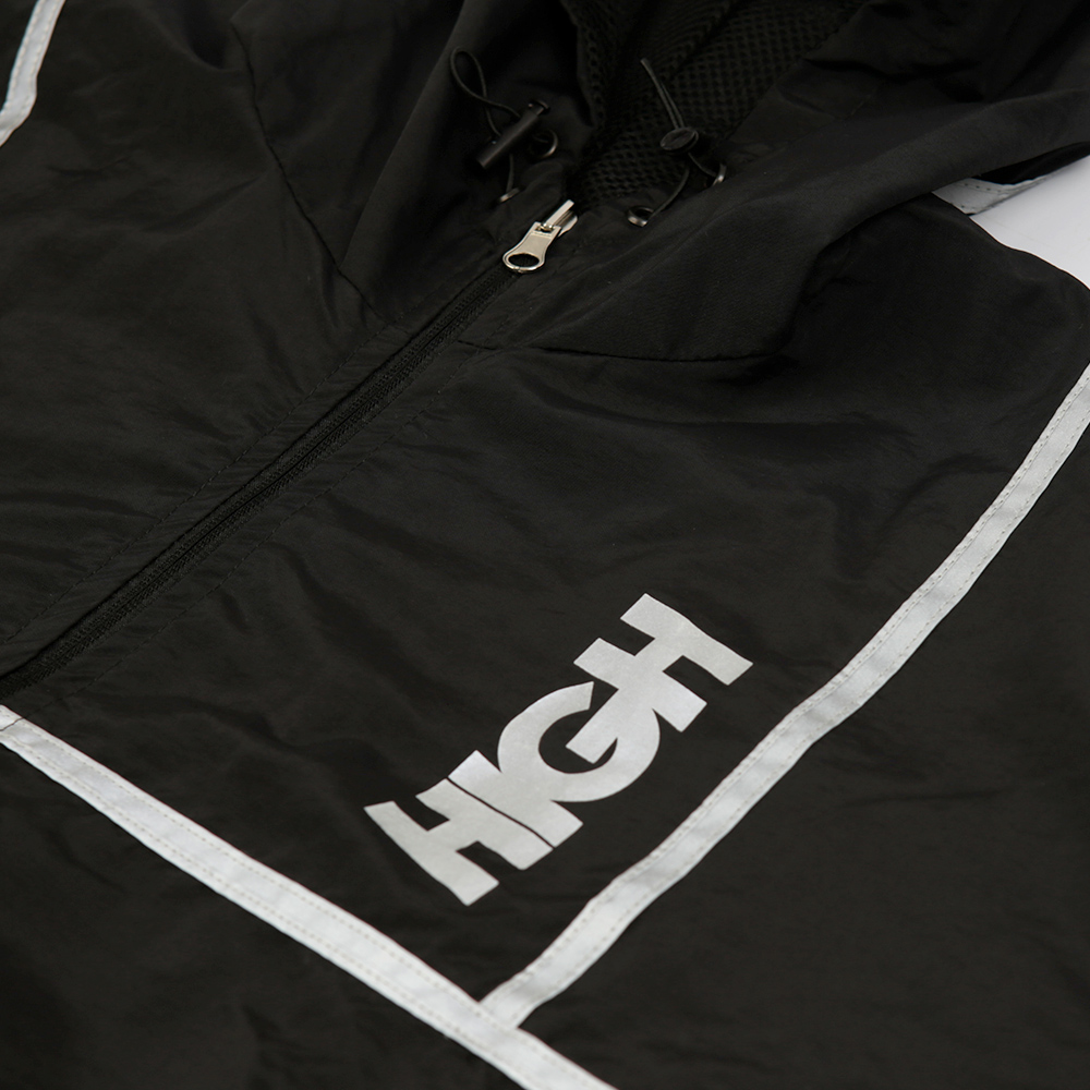 Windbreaker Reflective Stripes Black